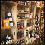 Our shop features delicious produce such as oils, sauces, chocolates, popcorn, jams and chutneys