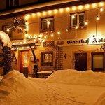 Der Gasthof im Winter