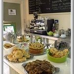 Folly Lake Cafe cakes counter