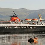 MV Isle of Mull passes front of hotel on way back to Oban