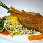 Our famous Lamb shank with Baghala polo