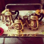 Silver service at hotel