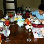 In villa breakfast