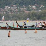 Fishing boats are seen.
