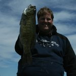 "21.5"" smallmouth caught on June trip to Chequamegon Bay while staying at Americinn of Ashland."