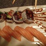 BBQ Short Rib Roll and Salmon Sushi