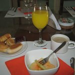 Parte del desayuno. Es estupendo de buen sabor y abundante