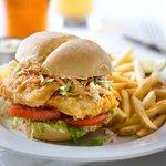 Messy Fish Sandwich