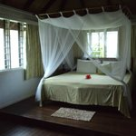Bed in our bure
