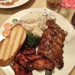 Honey Garlic Ribs (mostly bone) and BBQ Wings