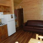 Kitchenette and couch