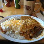 green chili breakfast burrito