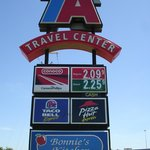 Look for our TA sign on I-35 north of Denton, exit 471.