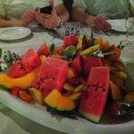 the fruit tray!