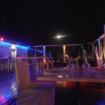 Moon view from the roof of Marco Polo in Nicosia