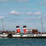 The Waverley Paddle Steamer calling in at Helensburgh