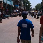 On the Salaam Balak City Walk - 46 degrees in the shade!