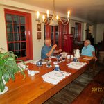 Breakfast in the main house - Mr. V. on the right