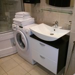 Bathroom equipped with washing machine