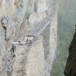Inca drawbridge at Machu Picchu