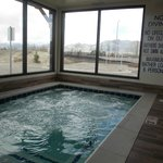 Enjoy the oversized guest spa with a beautiful view of the Bridger Mountains