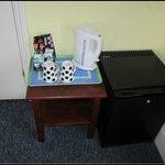 Small fridge & coffee/tea facilities