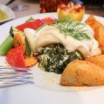 Stuffed Haddock Florentine