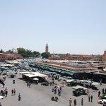 Vista desde la terraza-comedor de la Plaza Jemma el Fna