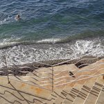 Steps down to the Aegean Sea