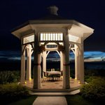 A romantic dinner in the wedding gazebo!