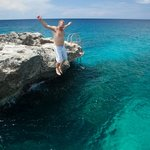 Jumping off the cliffs!