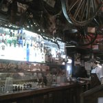 Main bar downstairs, well stocked