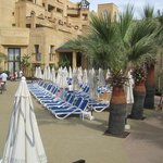 One of the main sunbed areas