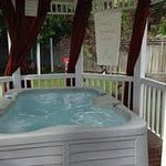 Private hot tub with each suite