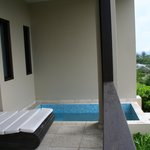 Our veranda with plunge pool