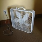 The Basic fan guests are to use for ventilation since there's no AC