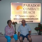 My parents at the Parador Entrance