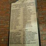 placa conmemorativa en Bevis Marks
