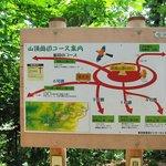高尾山・・・山頂付近の道路サイン