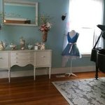 Southard parlor with baby grand piano
