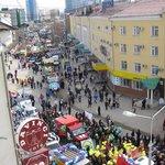 Вид с балкона кафе, Первомайская демонстрация ))