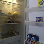 Fridge with breakfast supplies