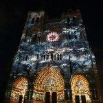 The beautiful cathedral illuminations at Amiens