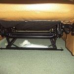 Trash hidden and left under the recliner