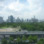 View over Lumpini park from one of the two balconies.