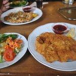 Salad and Schnitzel