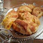 Homemade breakfast strudel