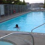 Early evening swim