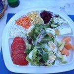 Salade au restaurant