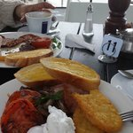 Lavazza cafe:  yummy breakfast on the boardwalk